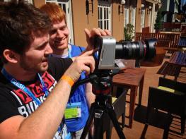 Students using Black Magic Cinema Camera